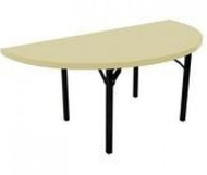 Southern Aluminum A60HRPIF Alulite Half Round Table with Individual Folding Legs 60 Inch