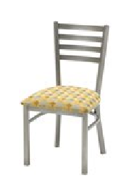 Grand Rapids Chair 571 Mama Melissa Steel Wide Chair with Upholstered Seat