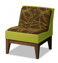Norix Furniture FC630/FC680U Forté Lounge Armless Upholstered Chair with Wood Base