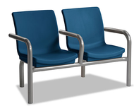 Norix Furniture C224-2 Two Gibraltar Beam Seating with End and Divider Arms