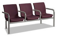 Norix Furniture C224-3 Three Gibraltar Beam Seating with End and Divider Arms