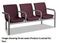 Norix Furniture C224-4 Four Gibraltar Beam Seating with End and Divider Arms