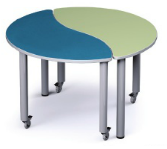 Russwood PT-HAR-270C Palettte Harmony Table 27 Inch Height