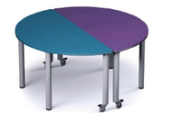 Russwood PT-MOON-270C Palettte Moon Table 27 Inch Height