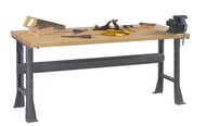 Tennsco WB-1-3060W Hardwood Top Workbench with Flared Legs Fixed Height 30 x 60