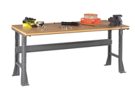 WB-1-3072C Compressed Wood Top Workbench with Flared Legs Fixed Height 30 x 72