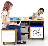 WB1679 STEM Activity Table and Mobile Seating Bins Set