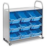 Gratnells SSET0144 Callero Plus Tilted Cart 9 Deep Trays