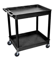 Luxor TC11 Utility Cart with 2 Tubs