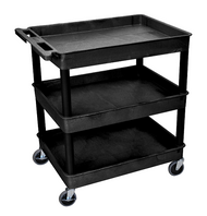 Luxor TC111 Utility Cart with 3 Tub Shelves