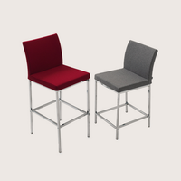 Aria Chrome Bar Stool