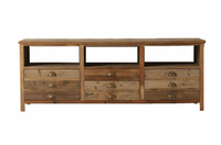 Elegant Reclaimed Wood TV Console 68""
