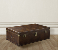 Vintage Steamer Trunk Table 54&quot;