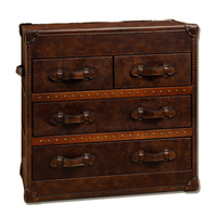 Vintage Steamer Trunk Low Chest