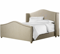 Aria Wing Linen Upholstered Bed