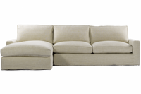 Casual Linen Upholstered Sectional Sofa