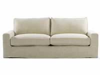 Casual 83&quot; Linen Upholstered Sofa
