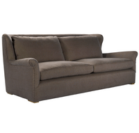 Wingback Linen Upholstered Sofas