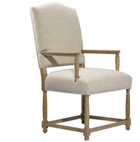 Camelback Upholstered Dining Arm Chair