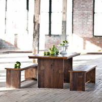 Salvaged Elm Dining Table Set