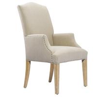 Camelback Dining Armchair-Linen