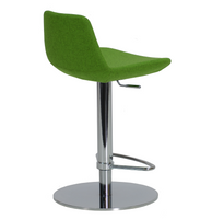 Pera Piston Stool - Pistachio Camira Wool