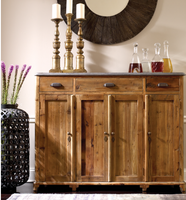 Bluestone Top Tall Sideboard