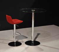 Lady Table with Glass Top