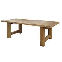 Barn House Wood Dining Room Table 98""