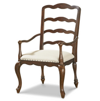 Sonoma Vintage Brown upholstered dining chair with nailheads