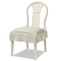 Sonoma Vintage White Slipcovered Kitchen Chair