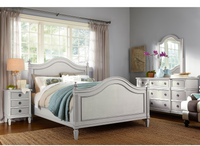 Allison Beach Cottage white King bedroom set