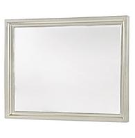 Country-Chic Maple Wood Dresser Mirror-White