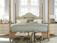French Modern King Poster Bed Frame