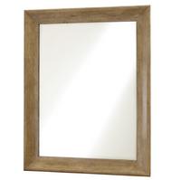 French Modern Light Wood Bedroom Mirror