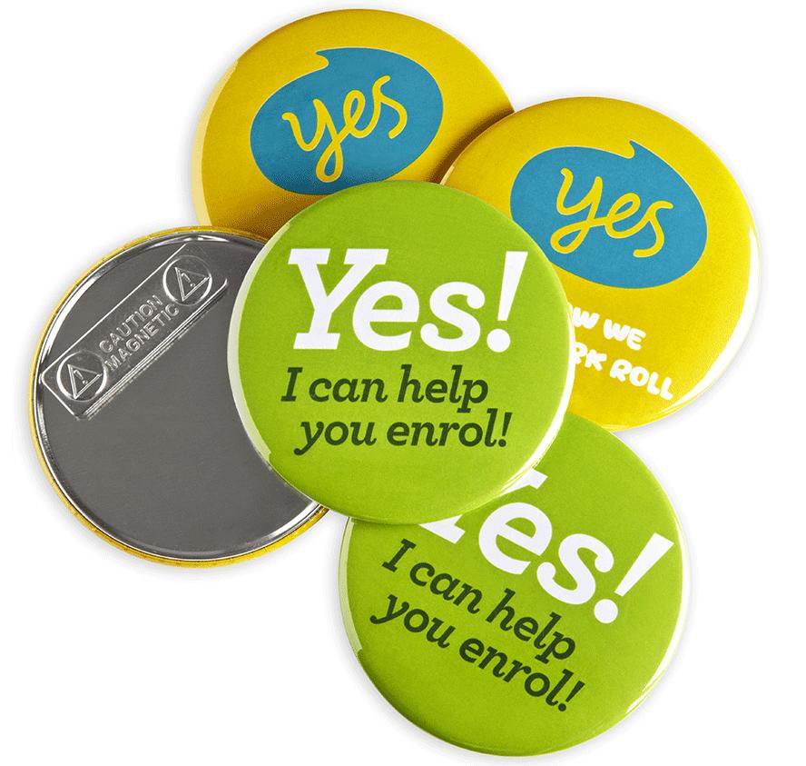 Magnet Fastener Custom Badges
