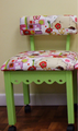 Arrow 4004 Green Alexander Henry Fabric Covered Sewing Machine Chair