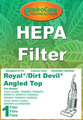 Royal/DD Vision Angled Top HEPA Replacement Vacuum Filter 920