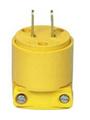 Cooper 2-prong 15a/125v Yellow Vacuum Male Plug 4862