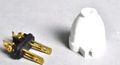 FitAll White 2-Wire Male Plug 32-5604-61
