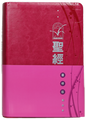 CCT1827 聖經‧靈修版‧紫紅色皮面‧銀邊‧輕便本‧繁體 Chinese Life Application Bible, Personal size, Magenta leather cover, silver edge