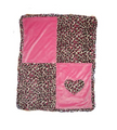 Color Block (Heart) Appliqué Blanket
