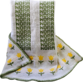Personalized Tulip Knit Blanket (Straw Yellow Tulips)