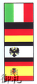 Flags of the World Interchangable Compact Mirror - Italy/Germany/Prussia/Spain