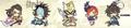 Sengoku Musou Rubber Strap Collection - Mori Motonari