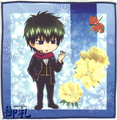 Gintama Microfiber Mini-Towel Winter Version - Hijikata Toushirou