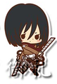 Attack on Titan Rubber Straps - Mikasa Ackerman