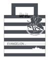 Evangelion Tote Bag Striped NERV version