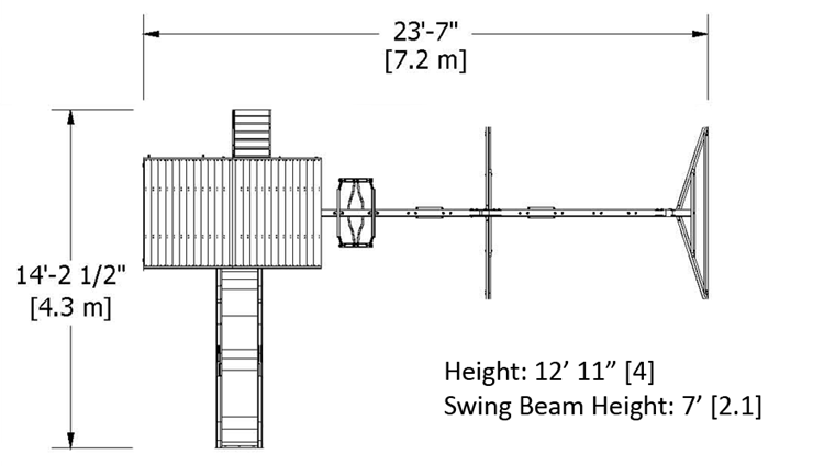 Quest Swing Set Dimensions