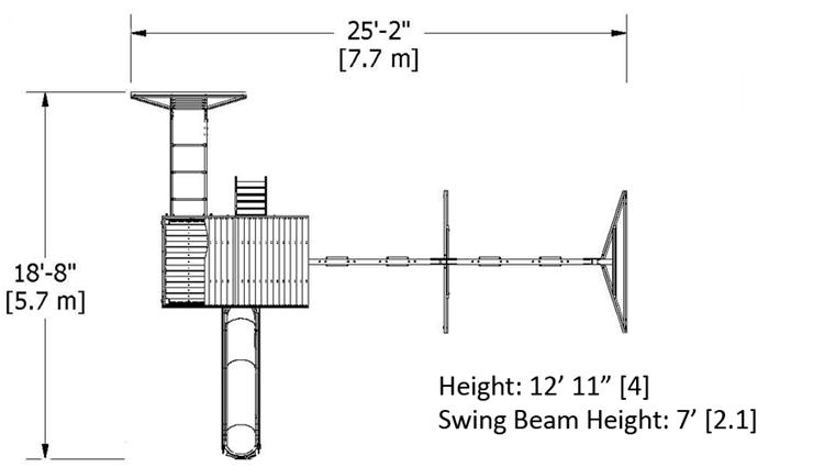 Wanderer Swing Set Dimensions